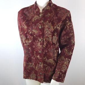 Gotcha Covered Jacket Blazer L Tapestry Jacquard